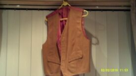 """Leather Waist Coats Brand New. Sold By M&S Size 38""""-40"""" & 41""""- 43"""""""