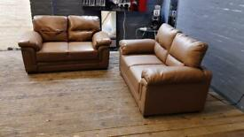 LEATHER SOFA SET IN NICE CONDITION 2+2 seater