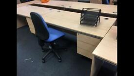 10 x high quality desks with built in draws @ just £55 each super clearance
