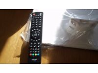 Remote control + white TV stand for the (Toshiba 24D1434).