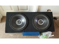 10inch subs and amp
