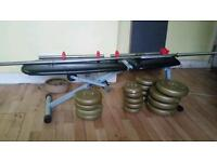 Weights n small bench open to 60 ONO or swap