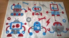 large kids robot rug
