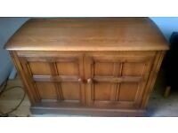 vintage antique Ercol solid wood cabinet/cupboard /chest. Collection Only