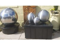 Triple Brushed Stainless Steel Spheres Water Feature with Lights by Ambienté™ £102 Dumfries