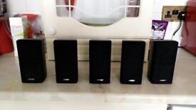 Bose 5 x Dual cube speakers