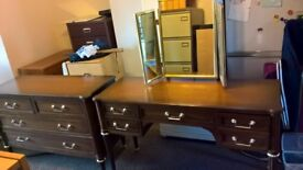 Solid Chest of drawers and dressing table with mirror