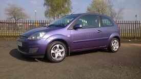 Ford Fiesta Silver; +1 Year MOT, Warranty, Full service history, Only 2 previous owners.