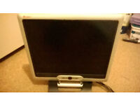 19 inch TFT LCD monitor. Perfect in every way, hardly used. Complete with all accessories.