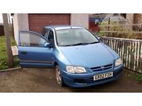 2002 Mitsubishi spacestar 1.6 mirage. SORN'd with some faults