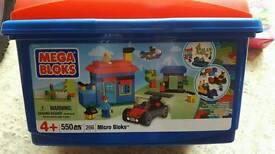 Large box of mega blocks