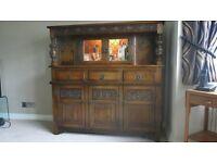 Old Charm oak court cupboard sideboard