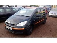 MITSUBISHI COLT BLACK 2006 MODEL CHEAP CAR MOT'D AUGUST
