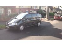 Black VW Sharan - Auto - Diesel and less than 70,000 miles