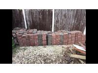 Reclaimed Paving Bricks - Red & Black