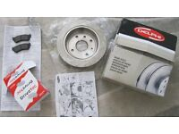 New Unused - 1 x Rear Brake Disc with 1 x set of Rear Brake pads - Chevrolet/Daewoo - Car Spares