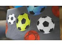 Football curtains and lightshade
