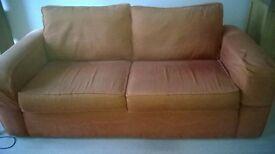 Sprung edge 3 seater sofa
