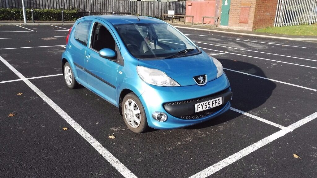 peugeot 107 blue, 998cc engine, 5door, ac, low tax £20.00 year