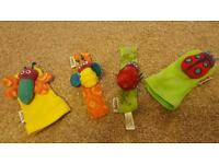 Very cute Lamaze wrist and ankle rattles