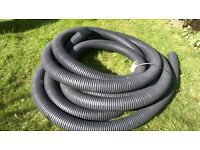 plastic land drainage pipe, perforated type.