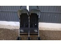 LOVELY BABIES R US DOUBLE PUSHCHAIR / STROLLER TWIN