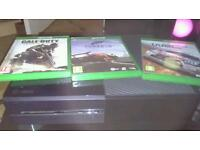 Xbox one with 2 controllers 7 games