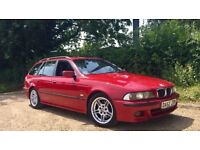 2003 BMW E39 530d Sport Touring Auto Imola Red FSH 1 Owner