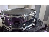 Mapex MPX 14 inch steel snare including case and Evans Hydrualic head