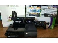 Xbox 360 (new model) with kinect and games