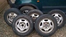 Set of 5 Honda steel wheels 205 70 r15 from Honda CRV £40 for all 5