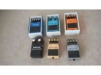 Boss and Frontline effects pedals (x 6)