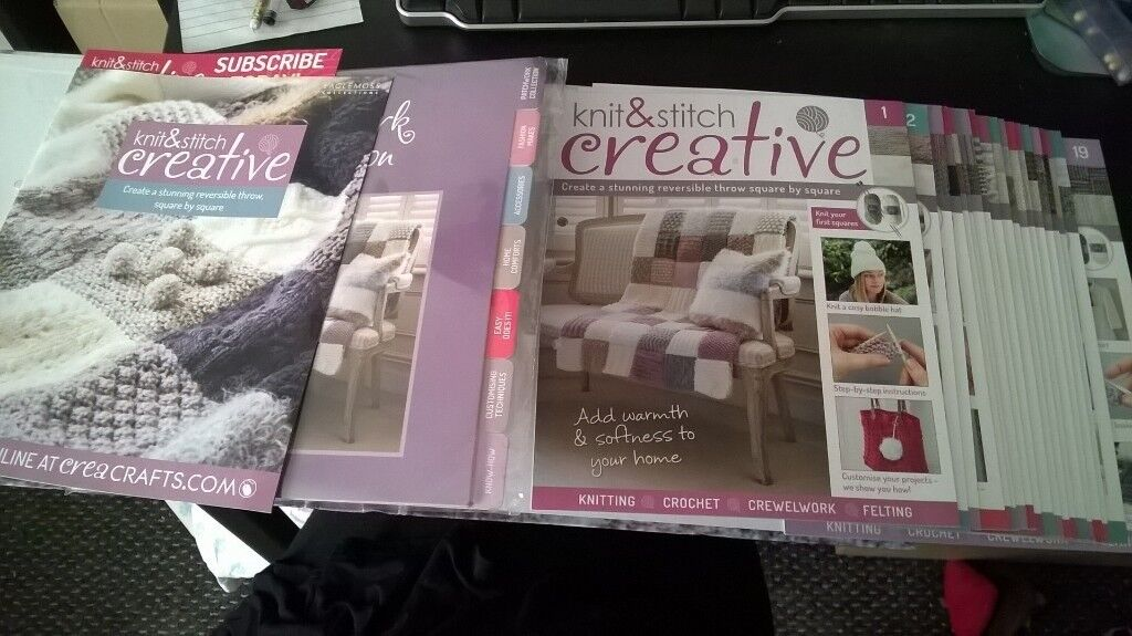 Knit N Stich Creative Collection Numbers 1 19 With Folder And Wool