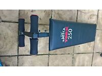 York Sit Up Bench & also used as decline dumbbell bench (press, dumbbell, weights, fitness, ez, abs)