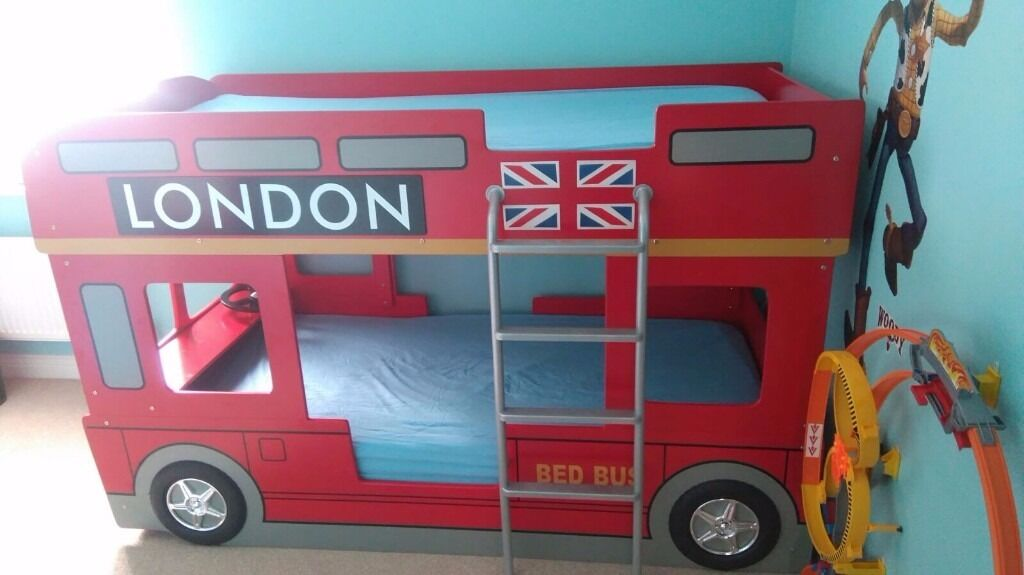 London Bus Design Baby Shoes
