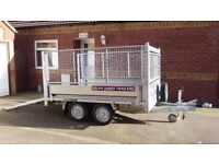 Brian James Cargo Compact 2.6 Metre 2,600 Kg trailer with steel sides, mesh extensions