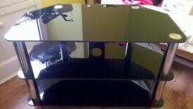 Black Glass TV Unit/Table
