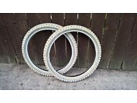 20 x 2.125 tyres x 2 for bmx or childs bike cycle kids bicycle