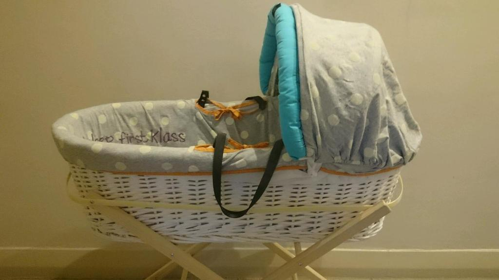 Moses basket and stand Baby by myleene klass Mothercare - still available!