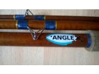 Antique Angle Fishing Rod With Wooden Reel