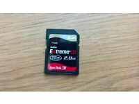 SanDisk Extreme III 2.0GB SD Card CAN POST/DELIVER