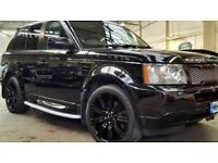 Range Rover Sport 2.7 2008 Metallic Black Colour Coded Bumpers/Sides Full Service His Sale/Swap