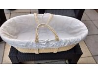 Baby Moses Basket with wooden stand