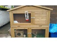 2 tier rabbit/ guinea pig hutch