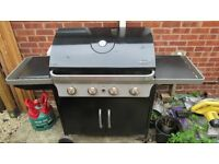 RECENTLY REDUCED - BLOOMA GAS BARBEQUE INCLUDING BOTTLE - 4 BURNERS
