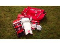 Cricket Kit - includes pads, gloves, bag & whites
