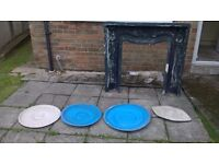 LOUIS FIBREGLASS FIREPLACE MOULD + OTHER MOULDS (OPEN TO OFFERS FOR THE LOT)