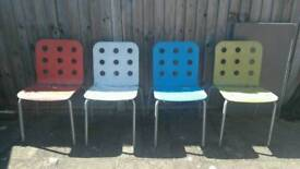 Retro style coloured chairs