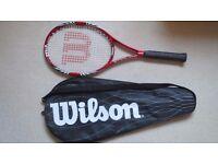 Wilson Federer 110 Tennis Rackets + 3 x Tube of Head Team Tennis Balls. New