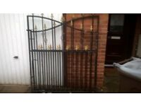 wrought iron double gates good condition 108 inch width 62 inches high £80.00